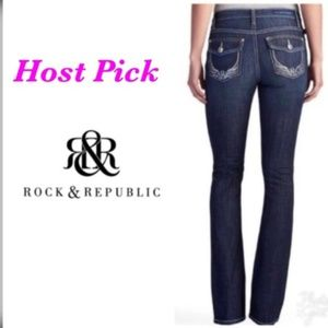 Rock & Republic Womens Blue Bootcut Jeans Sz 8 NWT